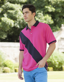 Diagonal Stripe Polo