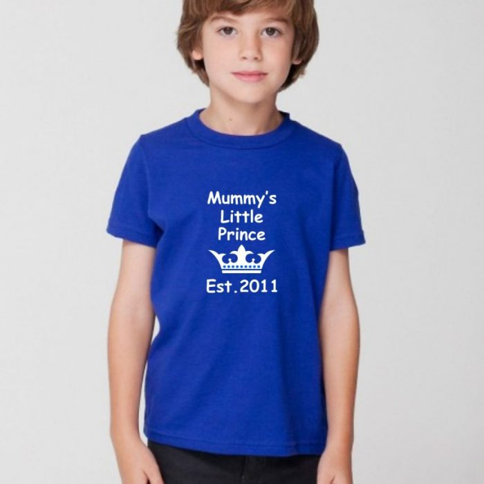 mummy's little prince t-shirt