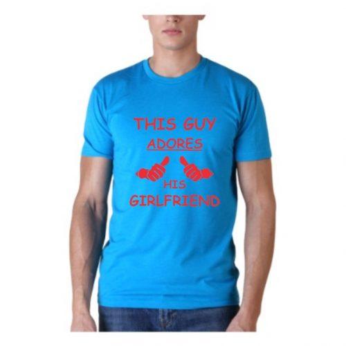 adores his girlfriend t-shirt