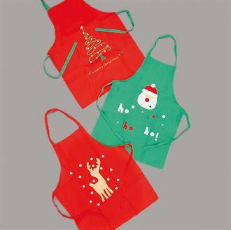 Kids Christmas apron